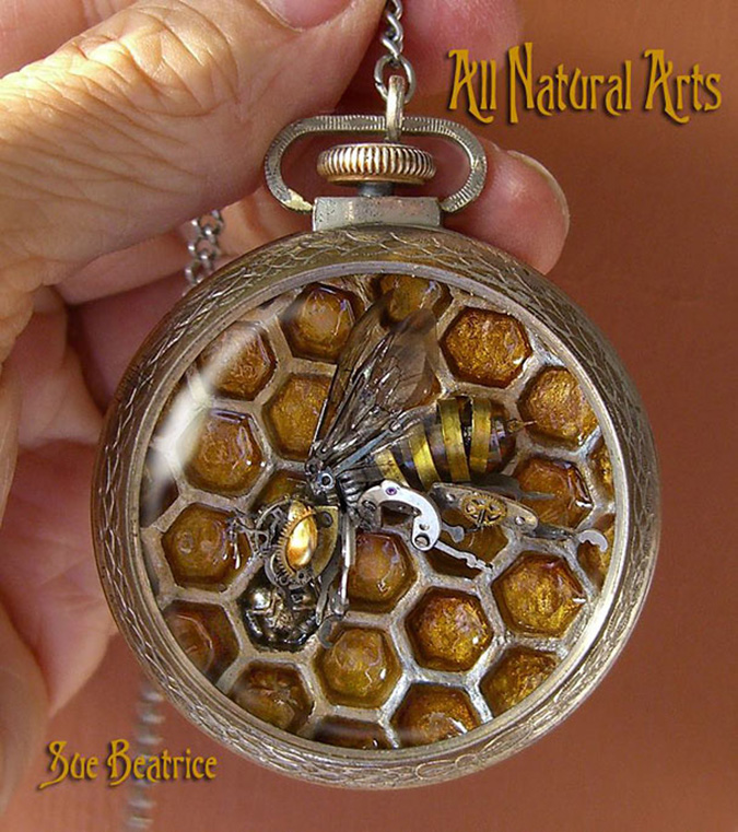 steampunk sculptures honeybee