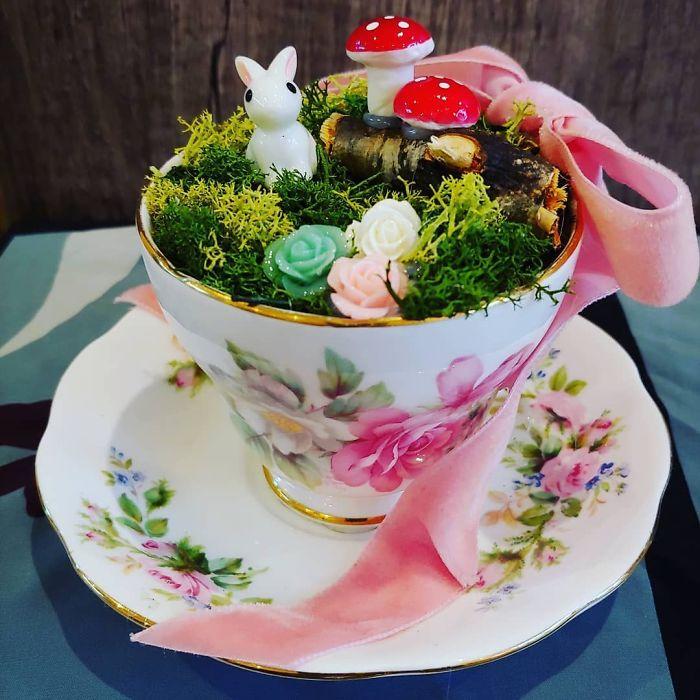 teacup gardens bunny mushrooms