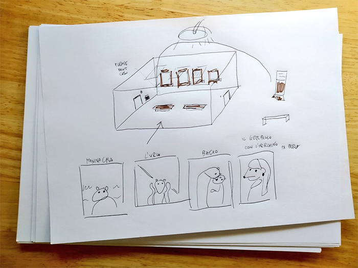 the gerbil museum sketch plan