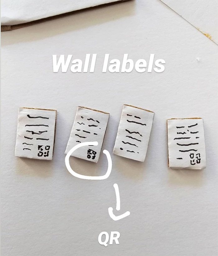 the gerbil museum wall labels