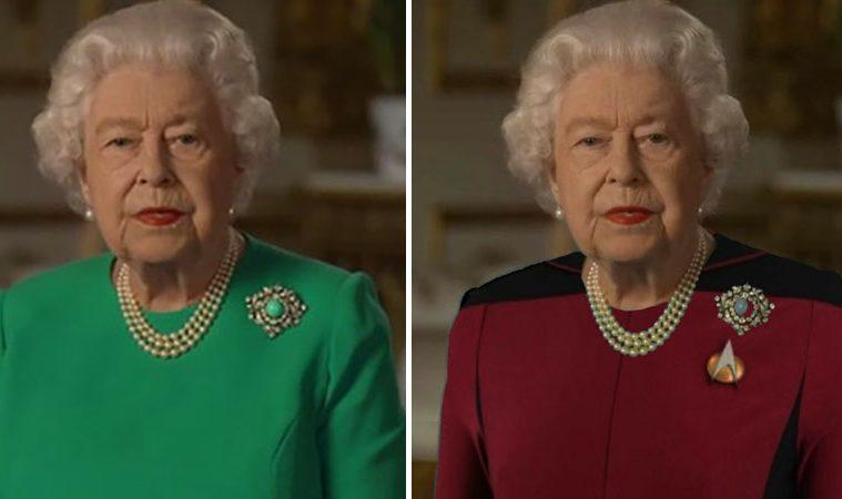 the queen green dress