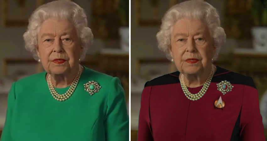 The Queen Wore A Green Dress For Her Speech And ...
