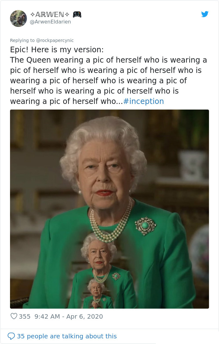 the queen of england memes inception