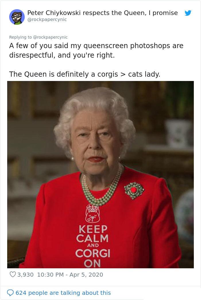 the queen of england memes keep calm corgi