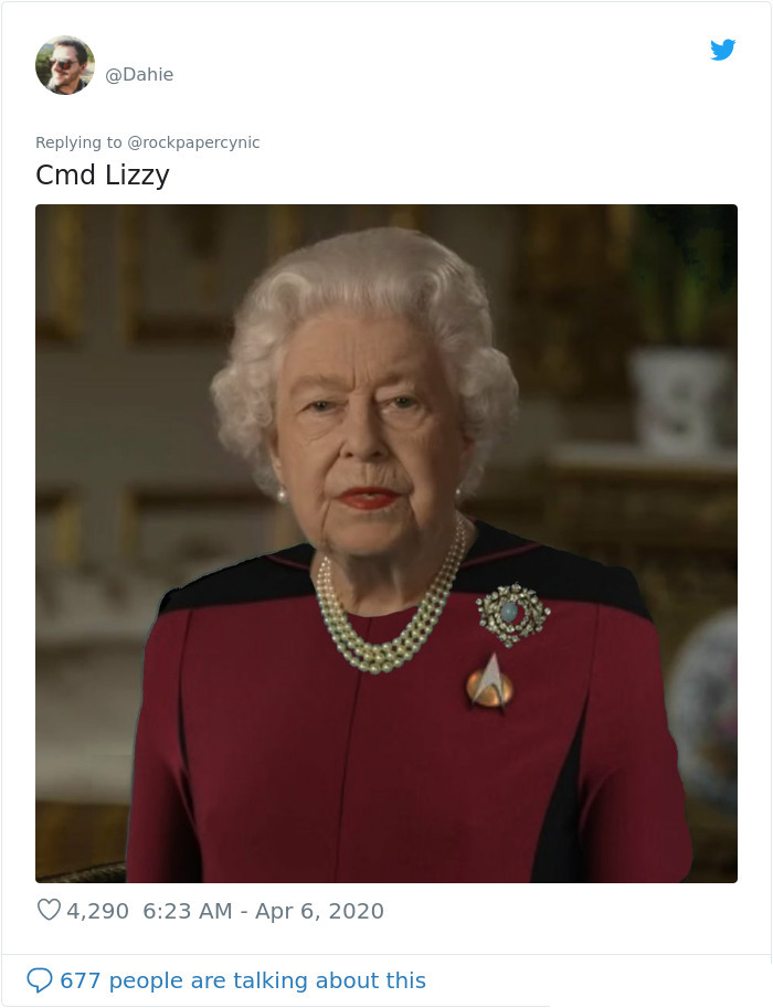 the queen of england memes star trek