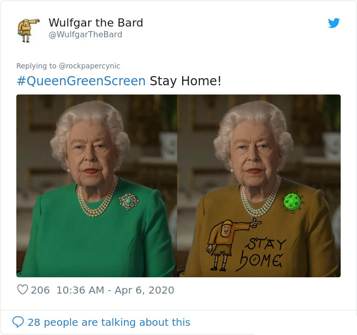 the queen of england memes stay at home