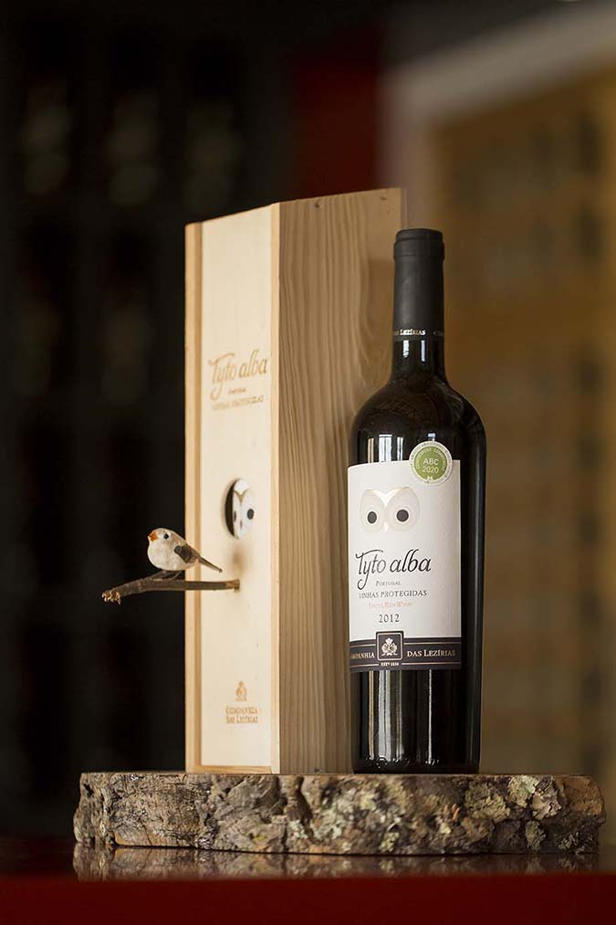tyto alba wine bottle bird box house