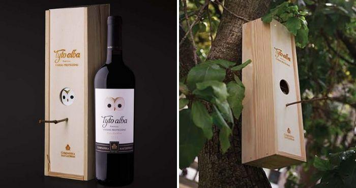 wine bottle box bird house