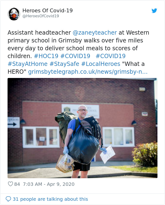 zane powles delivers free lunches to his students