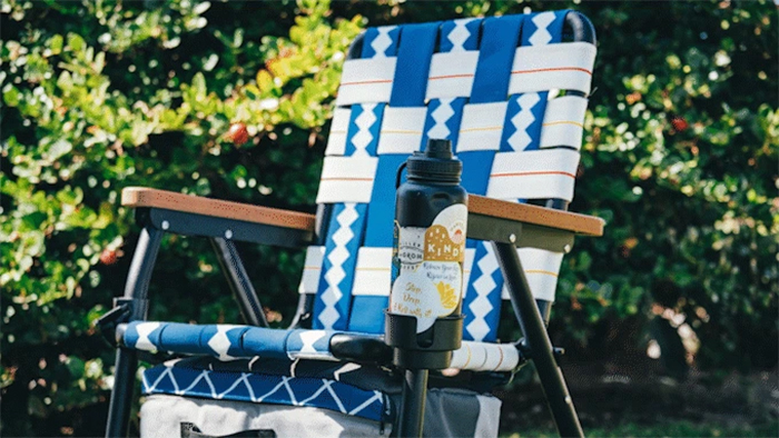 3-in-1 outdoor recreational chair cup holder