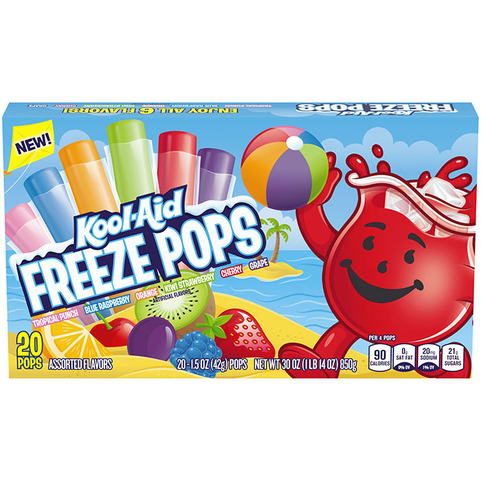 6 flavor kool-aid freeze pops