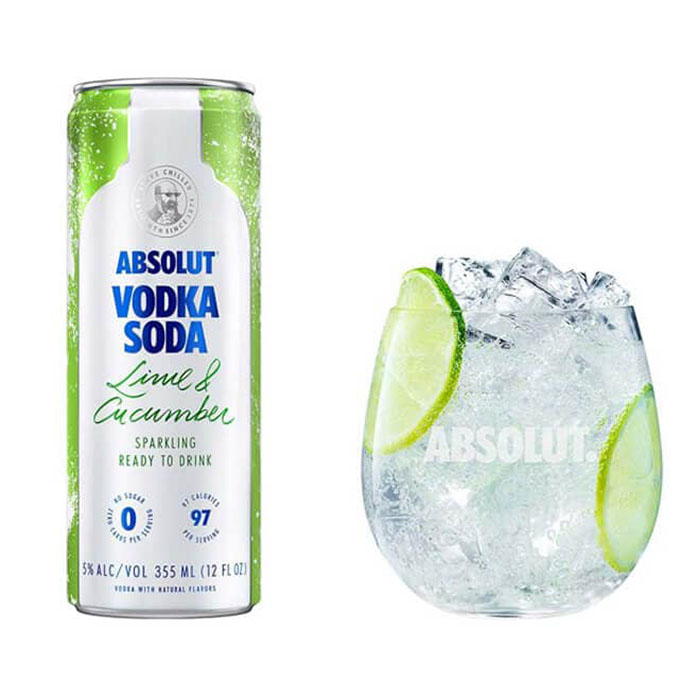 Absolut Vodka Soda Lime and Cucumber