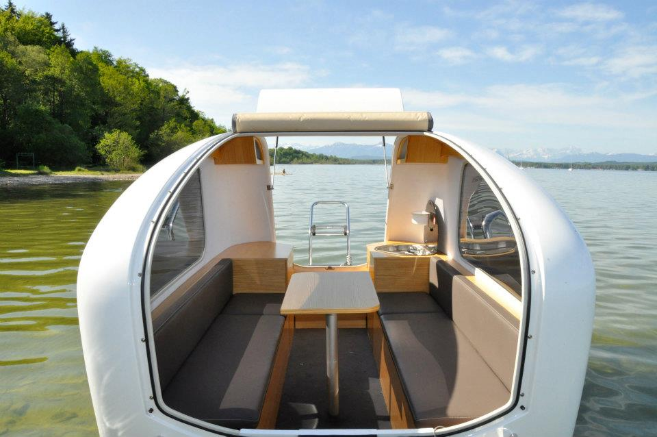 Camping Trailer that Doubles as Boat Interior