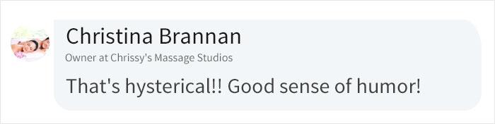 Christina Brannan LinkedIn Comment on Cara Fields Zoom Video Call Prank Post