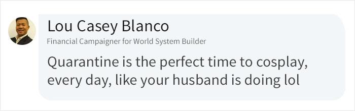 Lou Casey Blanco LinkedIn Comment