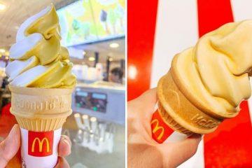 McDonald's Popcorn Caramel Ice Cream Cone