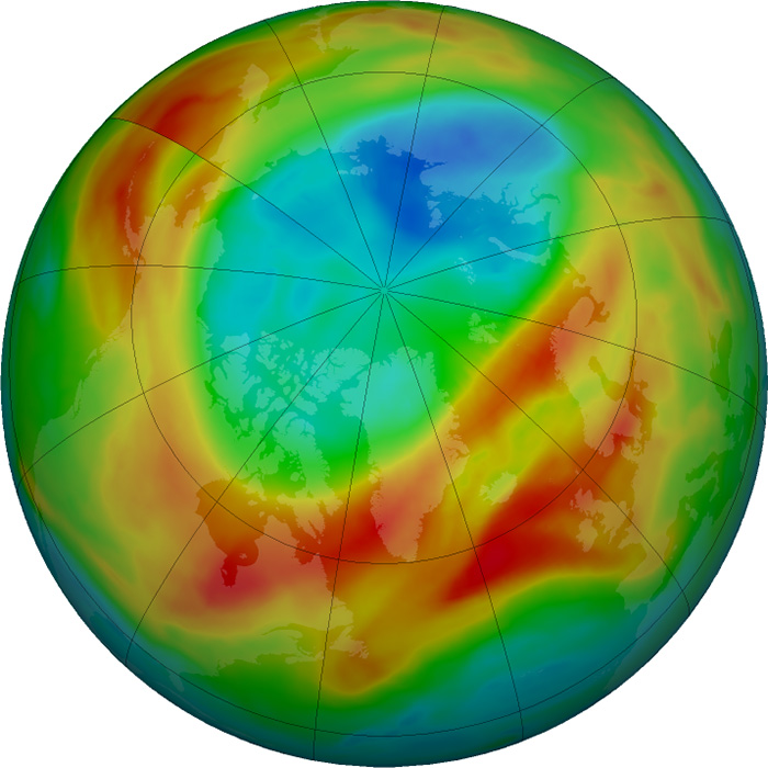 Ozone Layer Hole March 2 2020