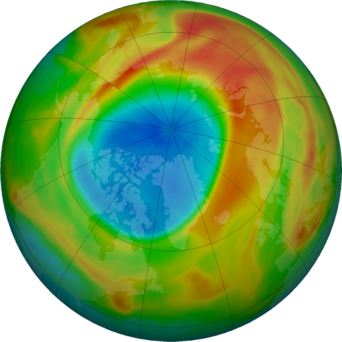 Ozone Layer Hole March 26 2020