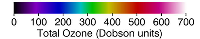 Ozone Layer Hole Total Ozone in Dobson Units March 2 2020