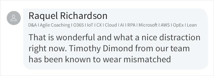 Raquel Richardson LinkedIn Comment