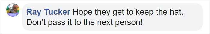 Ray Tucker Facebook Comment