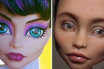 Removing doll makeup