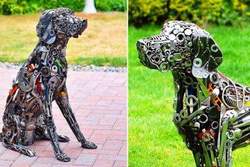 scrap metal art sculptures