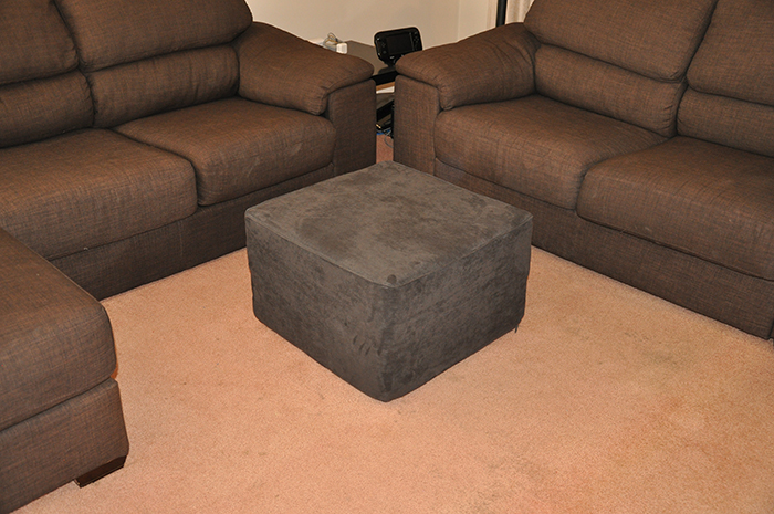 pillow fort cushions ottoman