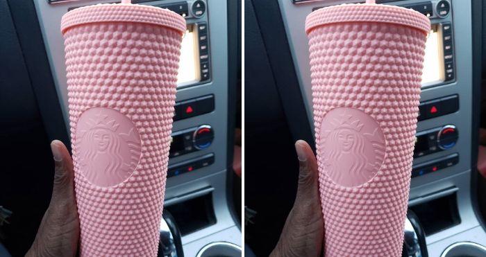 Starbucks Studded Matte-Pink Tumbler
