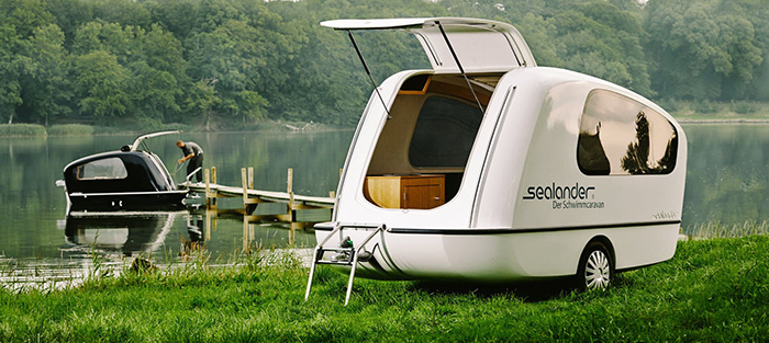 Unique Camping Trailer that Doubles as Boat