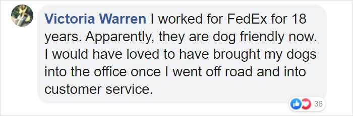 Victoria Warren Facebook Comment