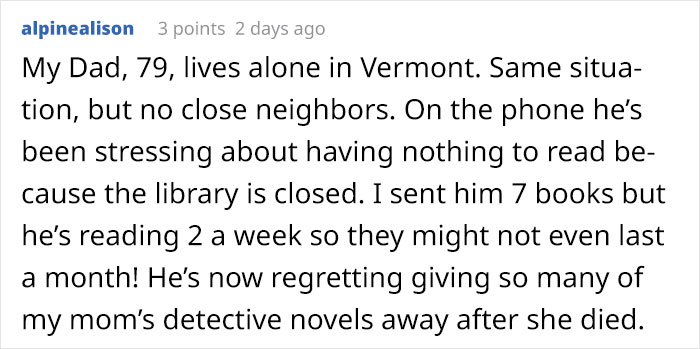 alpinealison Reddit Comment on Old Lady Handwritten Note Story
