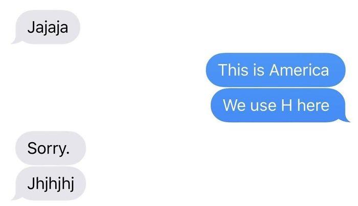 america uses h not j
