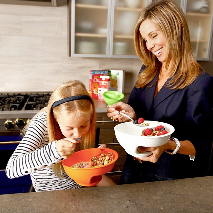 anti-soggy cereal bowl for crunchy breakfast
