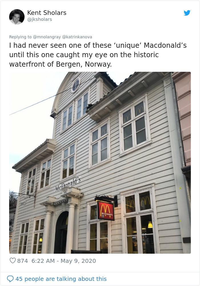 antique design fast-food restaurant norway