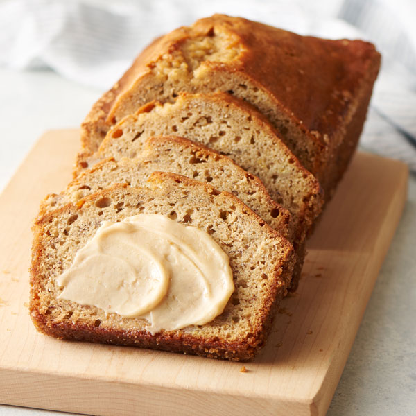 banana bread with maple me crazy butter