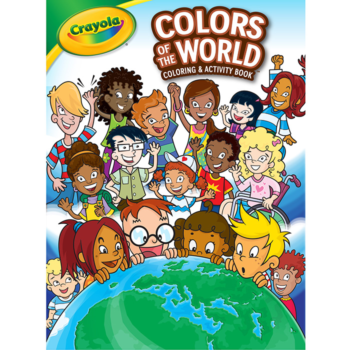 crayola colors of the world coloring book