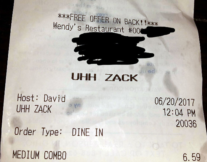 customer name uhh zack