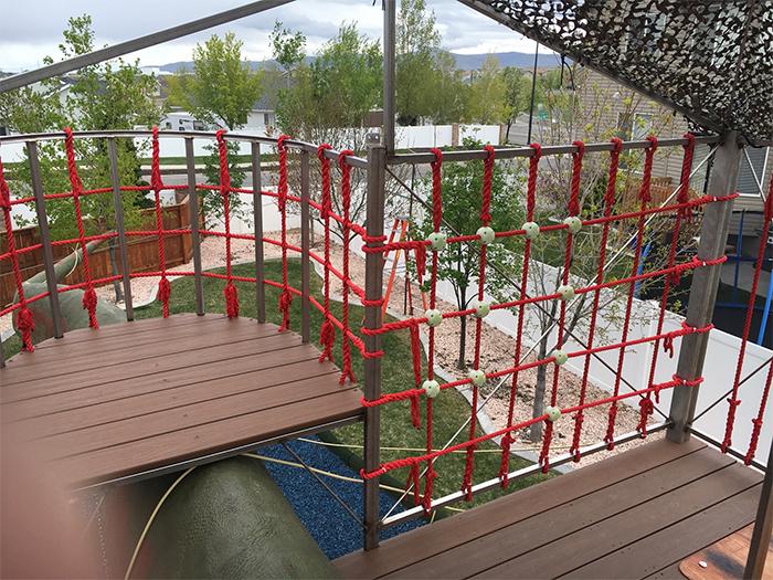 dino statue playground upper structure