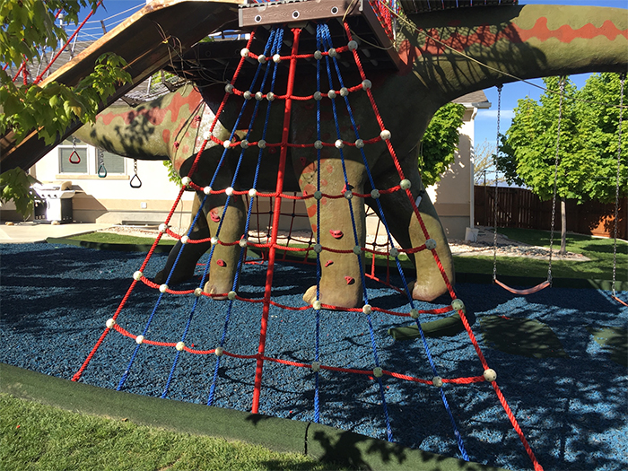 dinosaur jungle gym climbing web