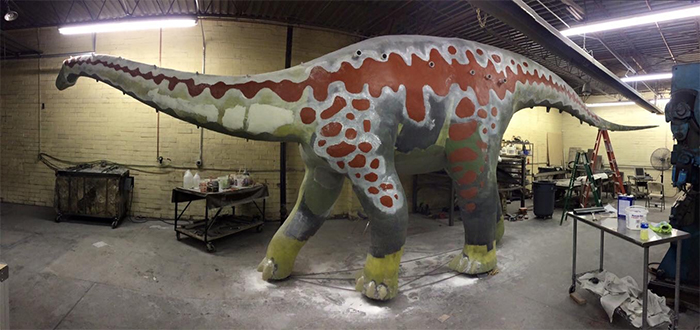dinosaur jungle gym construction ceramic filler