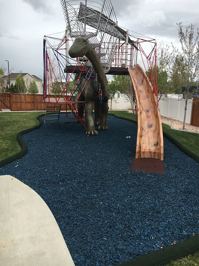 dinosaur jungle gym life-size