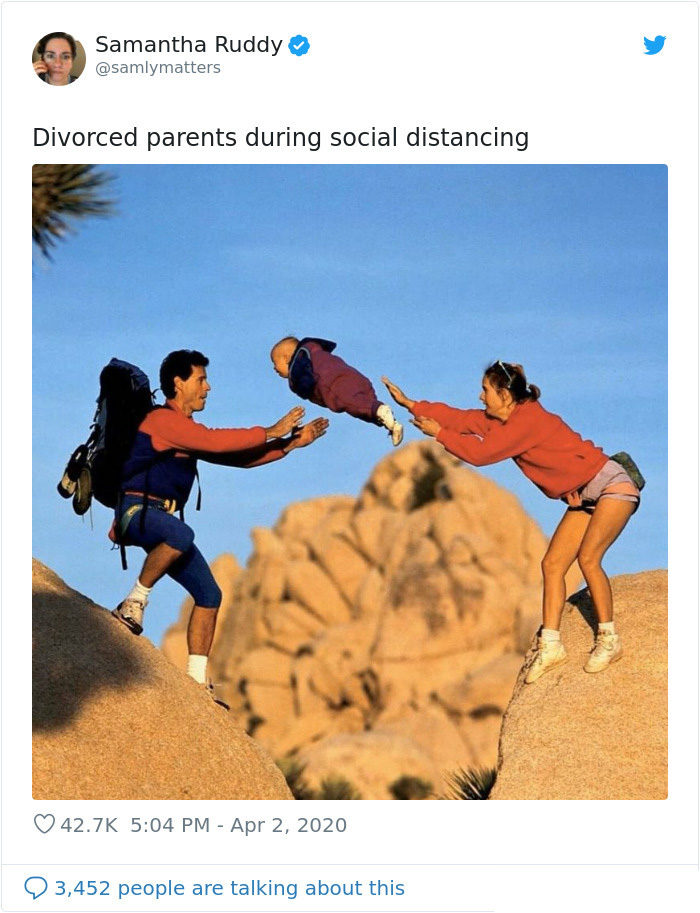 divorced parents social distancing