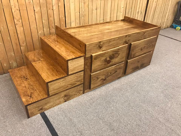 dog bed with four drawers