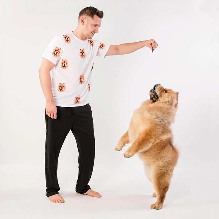 dogsy pyjama set dog's face