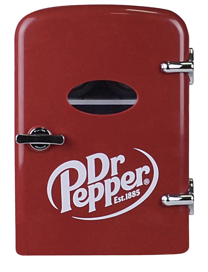dr pepper mini fridge front