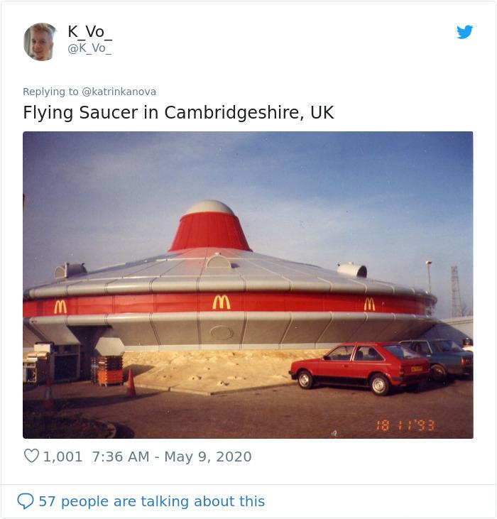 flying saucer fast-food restaurant cambridgeshire