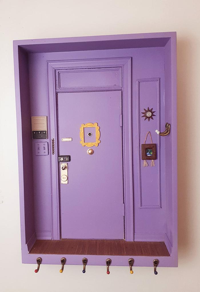 friends door scale replica key holder