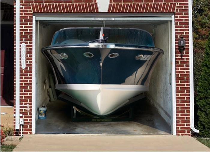 garage door decals boat