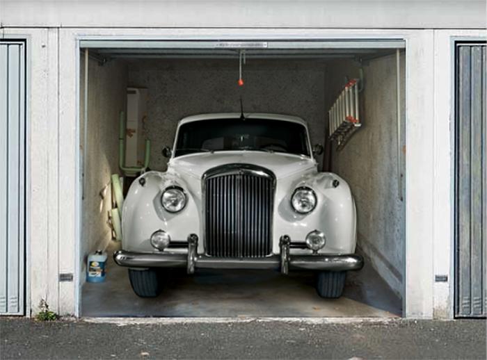 garage door decals classic car bentley